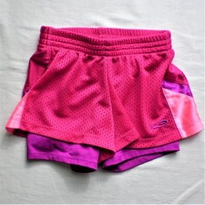 Girls Champion Pink Layered Athletic Shorts